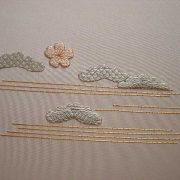 """Art textile - Détail de l'ouvrage """"Mile high"""""""