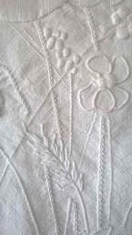 Broderie de Mountmellick - Points texturés pour les tiges et les feuilles
