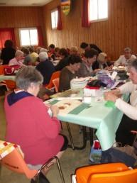 Journée de l'amitié des patcheuses d'Ariège en plein travail, mars 2016