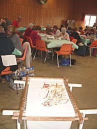 Journée de l'amitié des patcheuses d'Ariège, la broderie japonaise est invitée