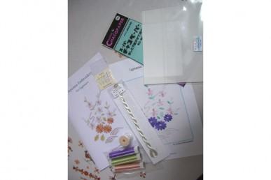 Kit pour débutante en broderie japonaise de Midori Embroidery