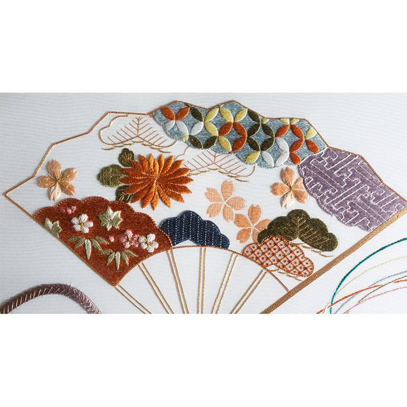 Toile murale en soie sensu for Decoration murale japonaise