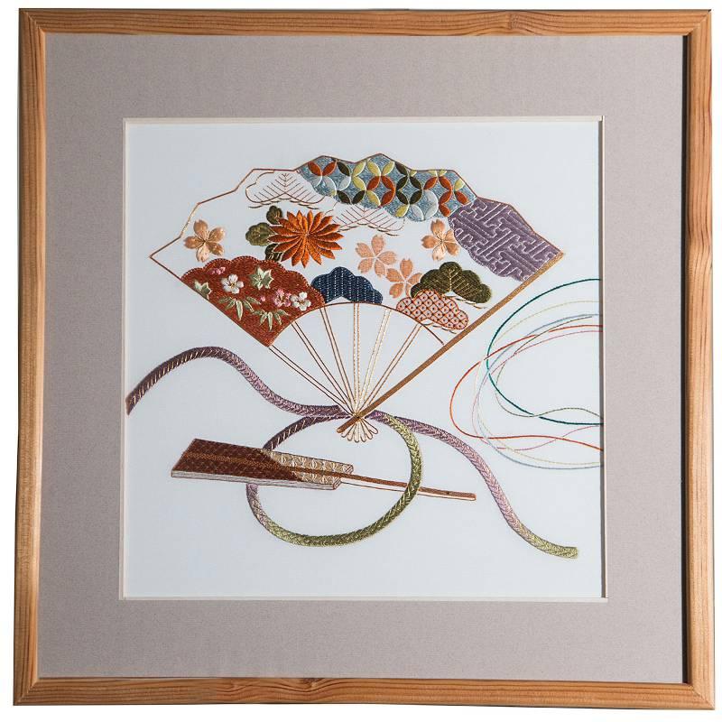 Tableau en soie issu de l'artisanat d'art
