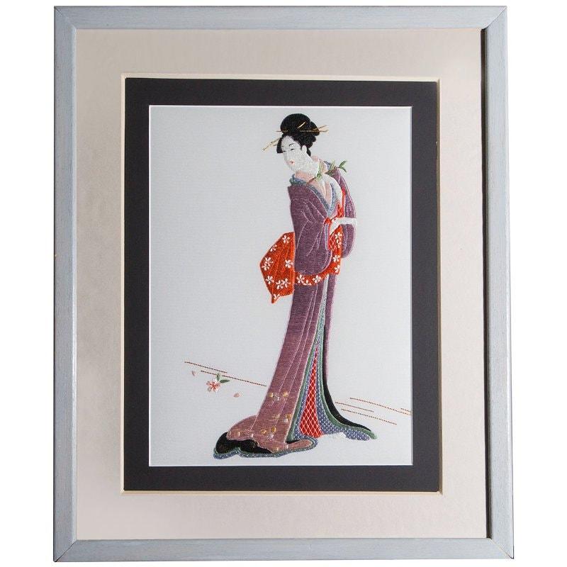 Tableau art déco en broderie japonaise Eternel Grace