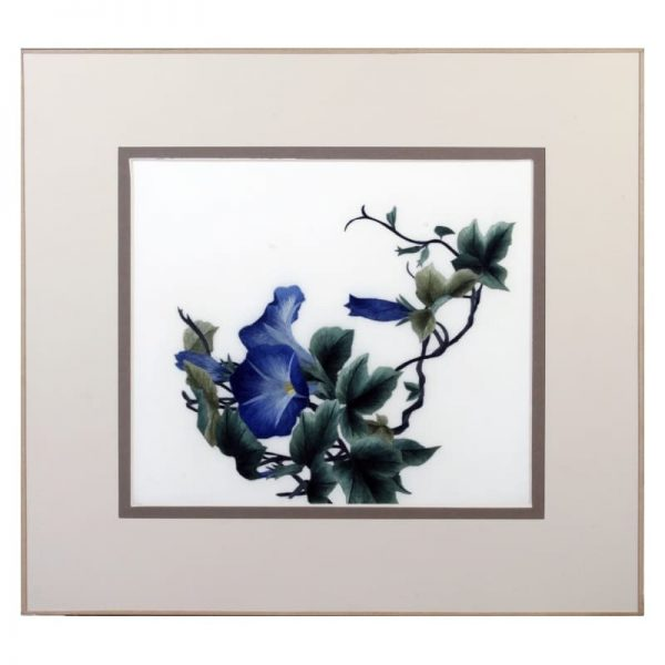 """Tableau décoration en broderie chinoise """"Morning Glory"""""""