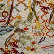 """Art et décoration - Détail du tableau """"Antique bamboo blinds curtains"""""""