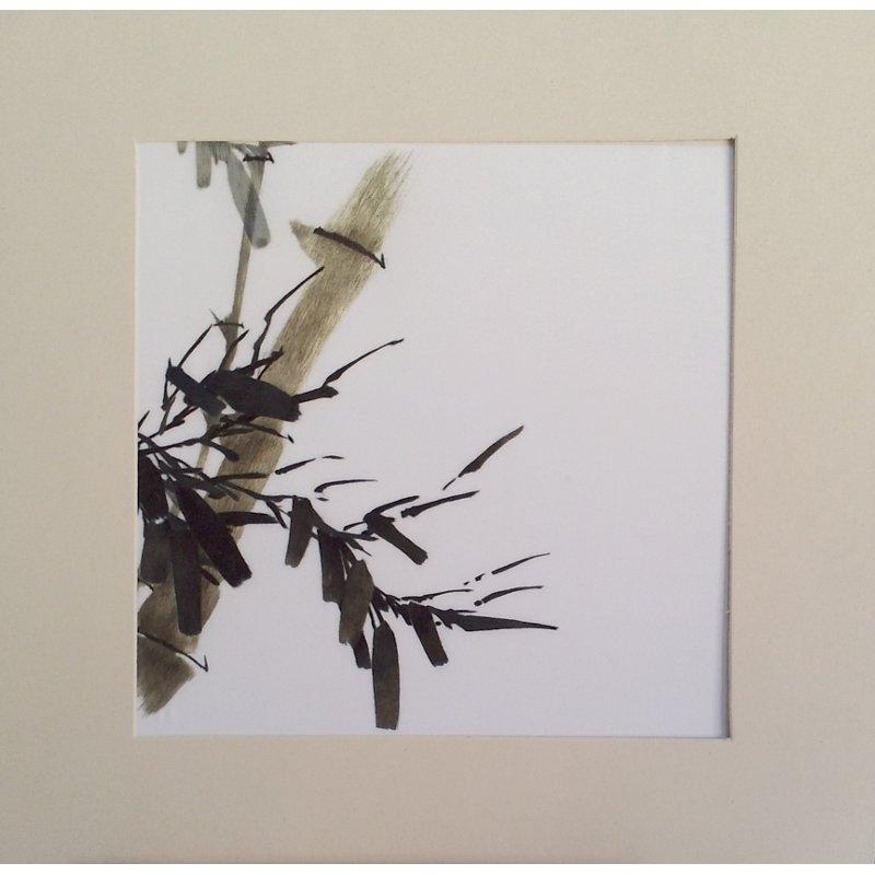 Tableau de soie - Bambou