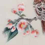 Tableau luxe Spring Day, Couple d'oiseaux sur une branche fleurie